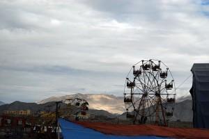 A funpark installed for the Kalachakra