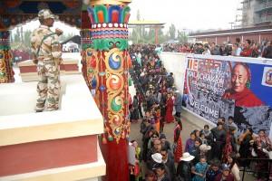 Kalachakra, with stron military presence