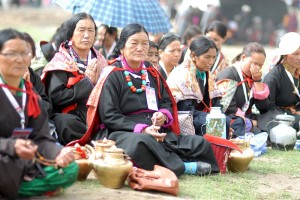 For the Kalachakra, people from all over Ladakh travel to Leh