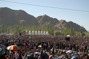 Kalachakra, the yearly teaching of the Dalai Lama which took place in Ladakh this Year