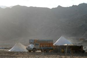 Tents installed for the Kalachakra
