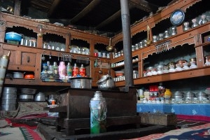 Ladakhi Kitchen, with the Bokari in the Centre