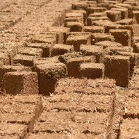 Straw-Clay Bricks, sun-dried