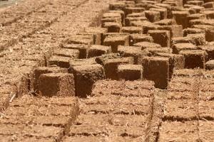 Straw-Clay Bricks, sun-dried