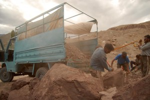 Getting Clay at Basgo for the Construction Site