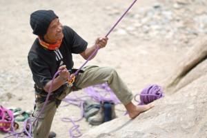 Climbing at Shey