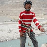 Abseilen zum Indus, eingerichtet von Shara und mir