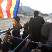 Dalai Lamas arrival in Leh