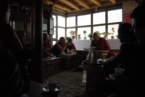 Presentations, the visiting Rinpoche and his monks