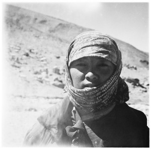 Dewa Dolmar, 16, stays with her Grandma and Aunt in a nomad camp. She wants to become a teacher.
