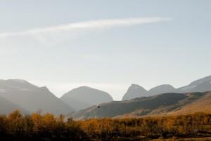 Der Blick zurück - Sicht auf Kebnekajse beim Abstieg nach Nikkaluokta